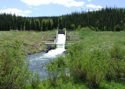 Yamcolo spillway running into ditch.
