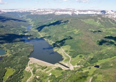 Aerial view of Yamcolo Reservoir.